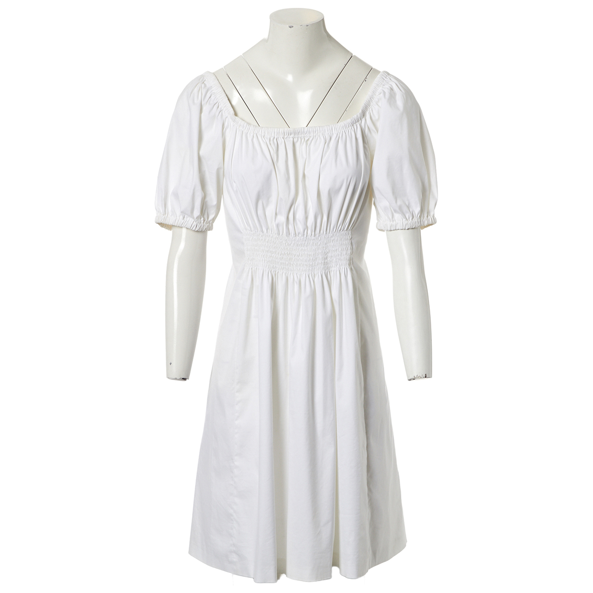 Prada \N White Cotton dress for Women 42 IT