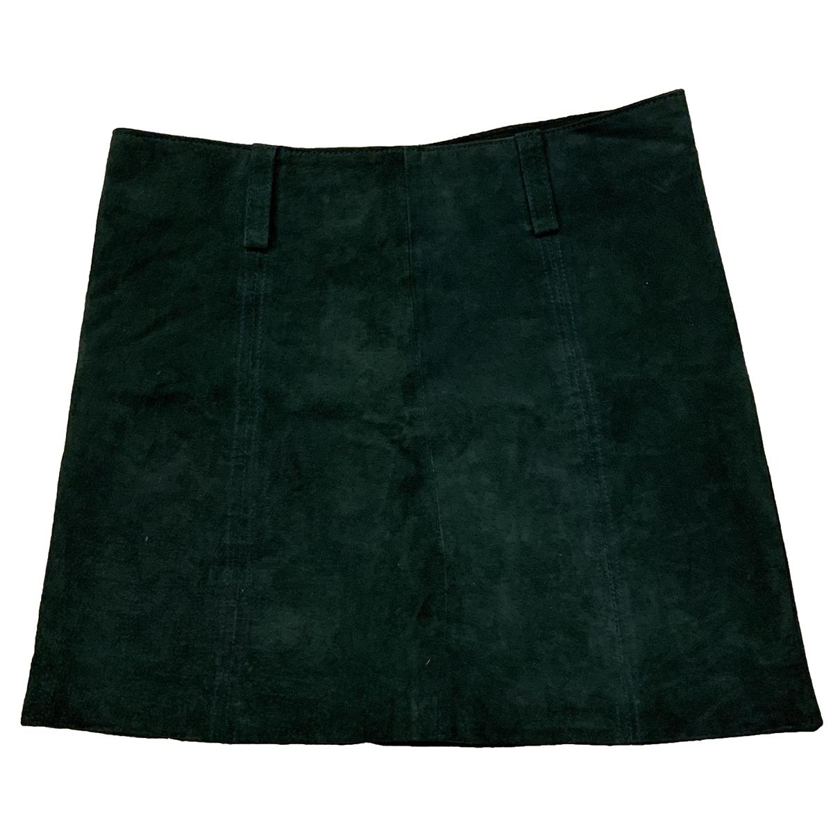 - Jupe   pour femme en cuir - vert