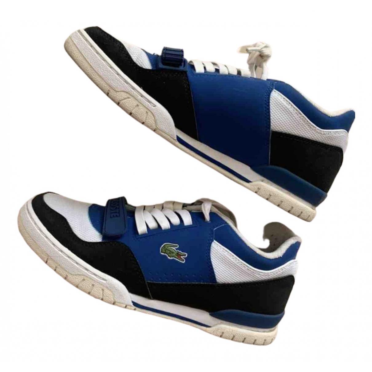 Lacoste \N Sneakers in  Blau Leinen