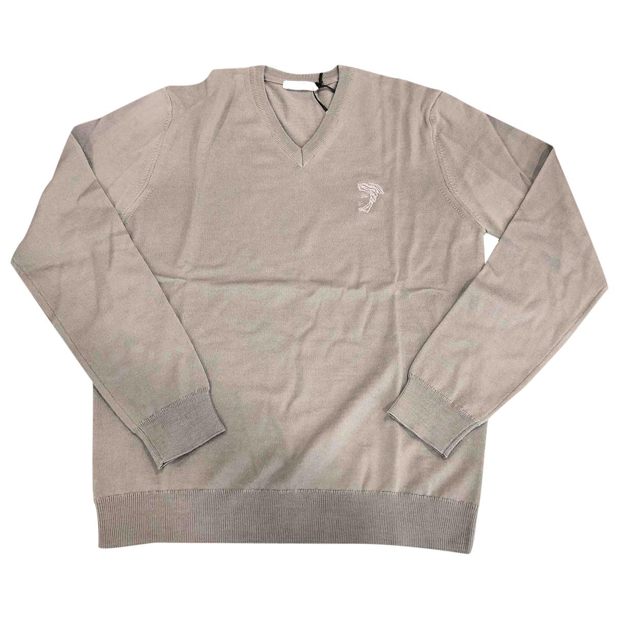 Versace - Pulls.Gilets.Sweats   pour homme en laine - anthracite