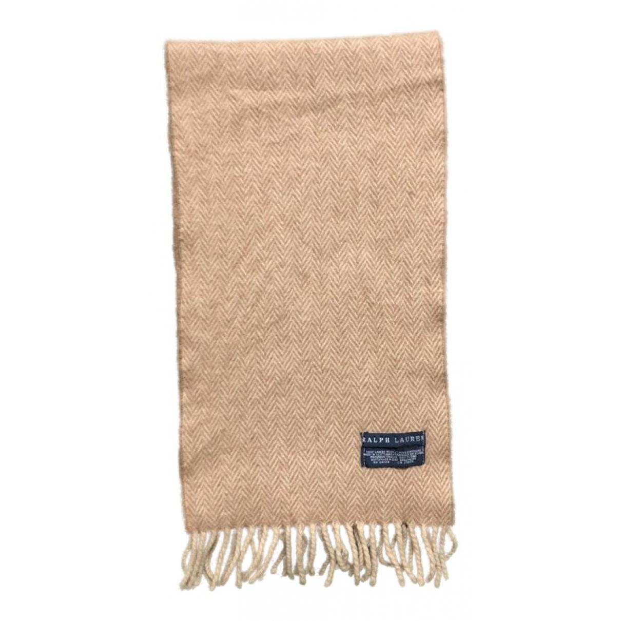Ralph Lauren \N Schal in  Khaki Wolle