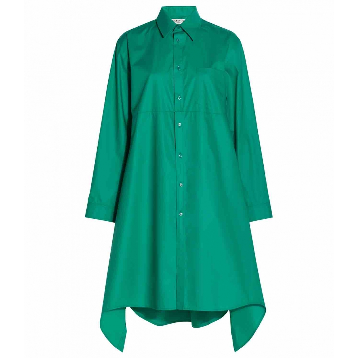 Balenciaga \N Green Cotton dress for Women 36 FR