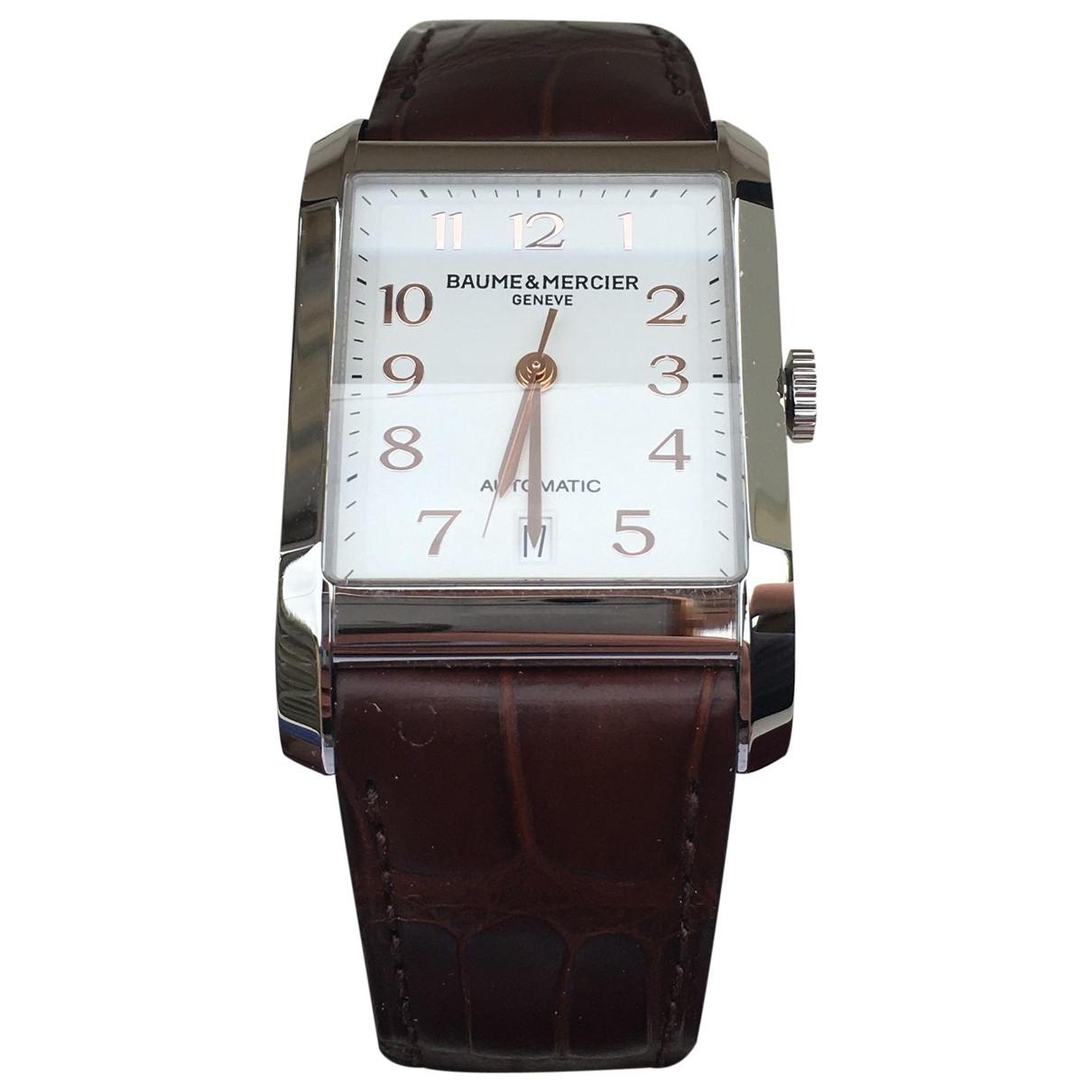 Baume Et Mercier Hampton Uhr in  Braun Stahl