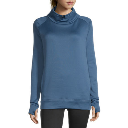 Xersion Womens Funnel Neck Long Sleeve Hoodie, Small , Blue