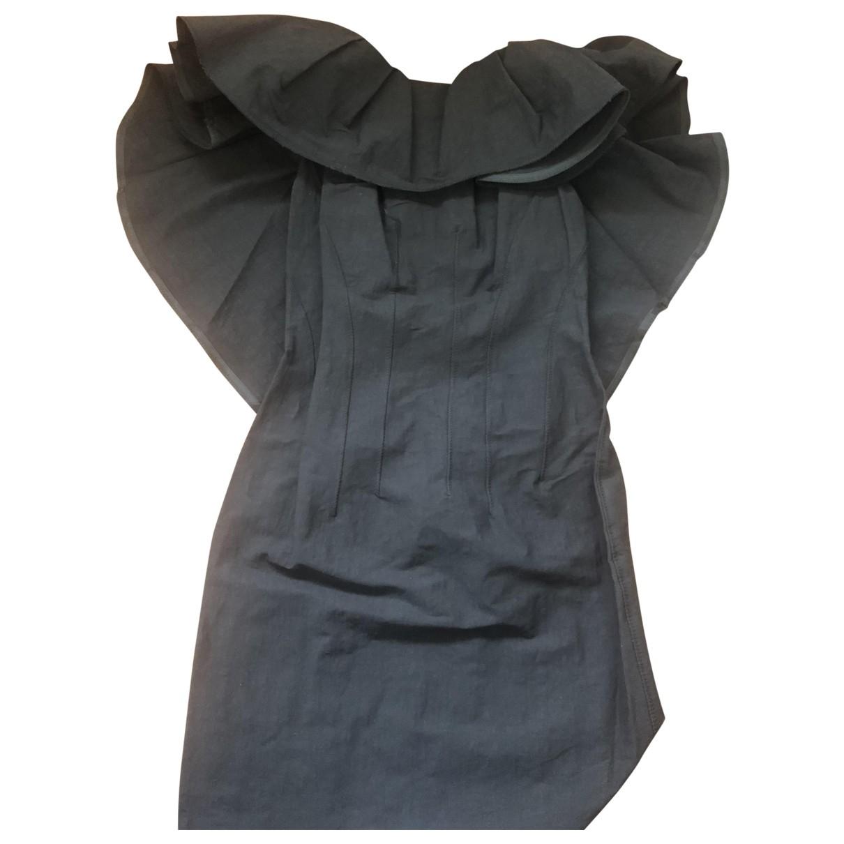 Lanvin \N Black Linen dress for Women 36 FR