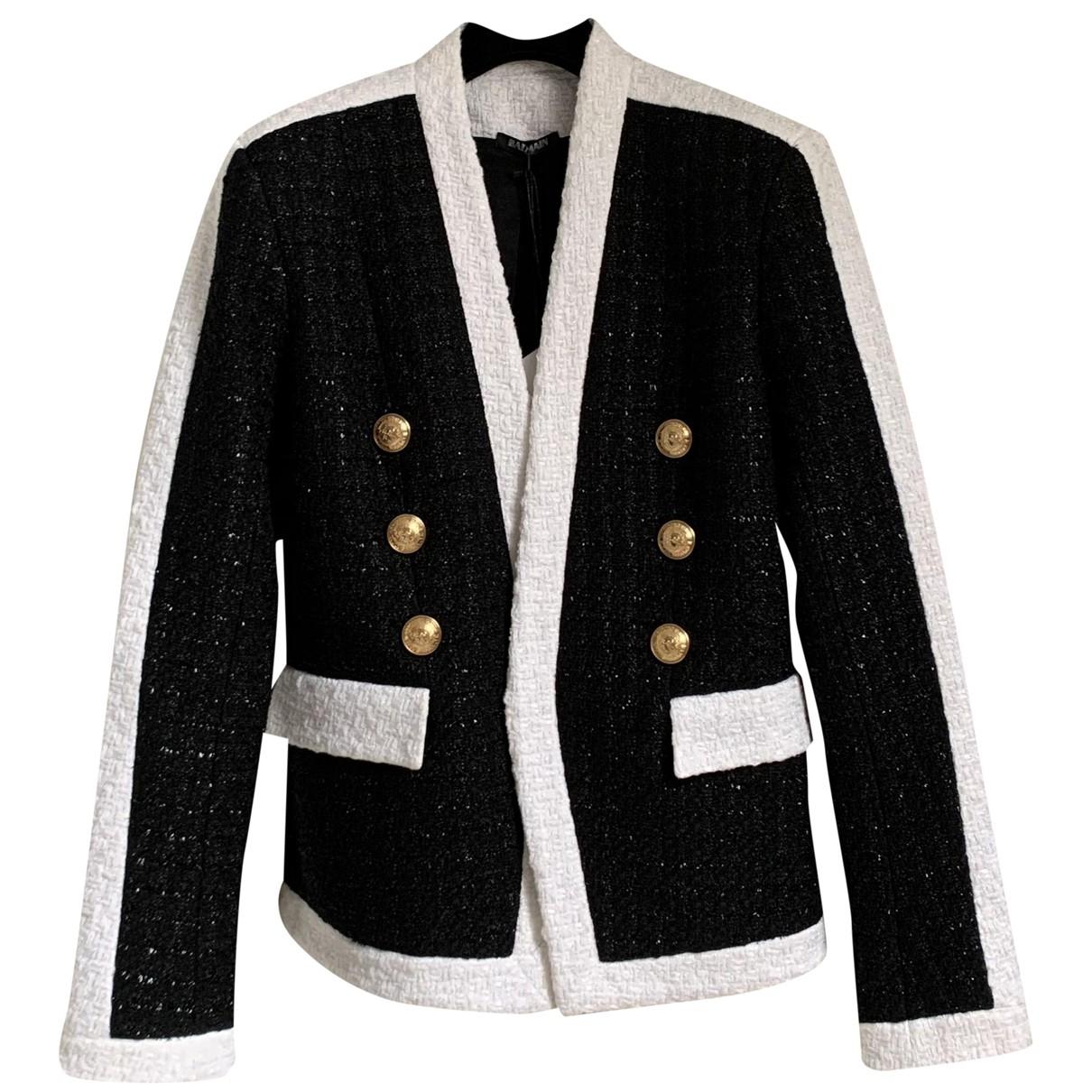 Balmain N Black Tweed jacket for Women 42 FR