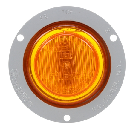 Truck Lite 10251Y - Yellow Led Lamp & Gray Flange