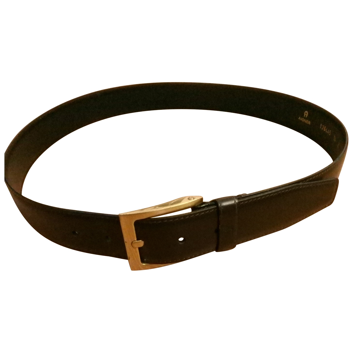 Aigner \N Brown Leather belt for Men 95 cm
