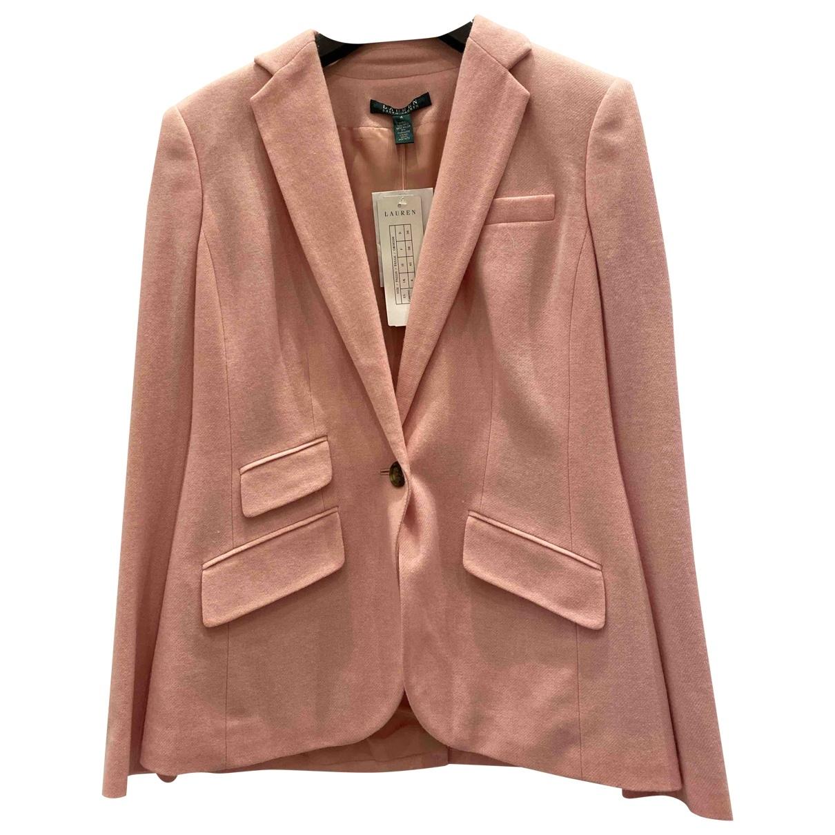 Lauren Ralph Lauren \N Pink Wool jacket for Women 4 US