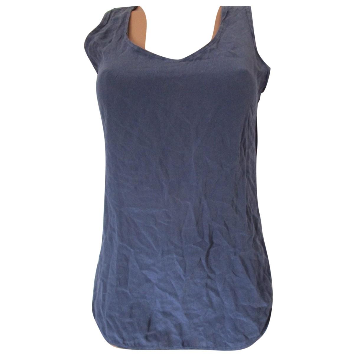Max & Co - Top   pour femme en soie - bleu