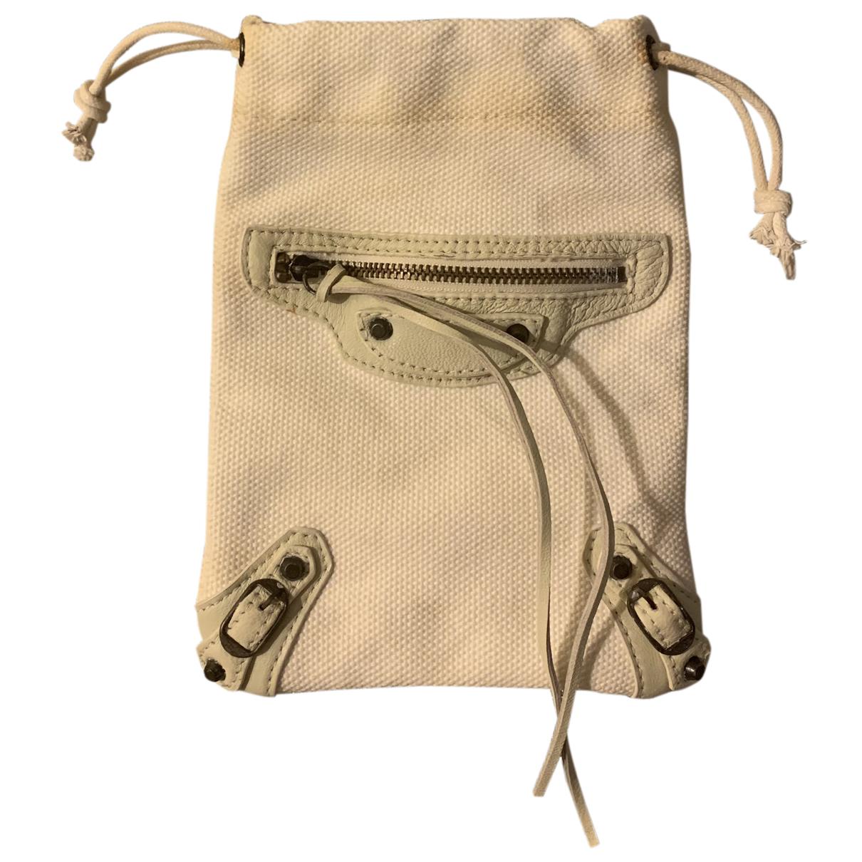 Balenciaga - Petite maroquinerie   pour femme en toile - blanc