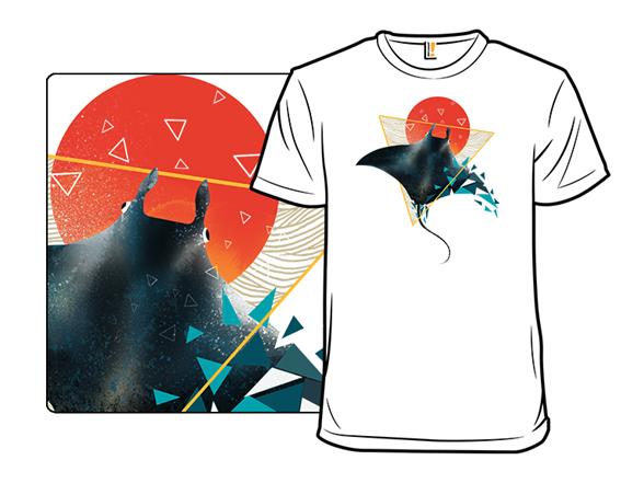 Geometric Sting Ray T Shirt