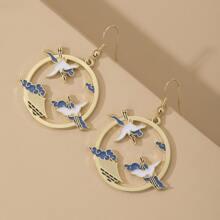 Bird Design Drop Earrings