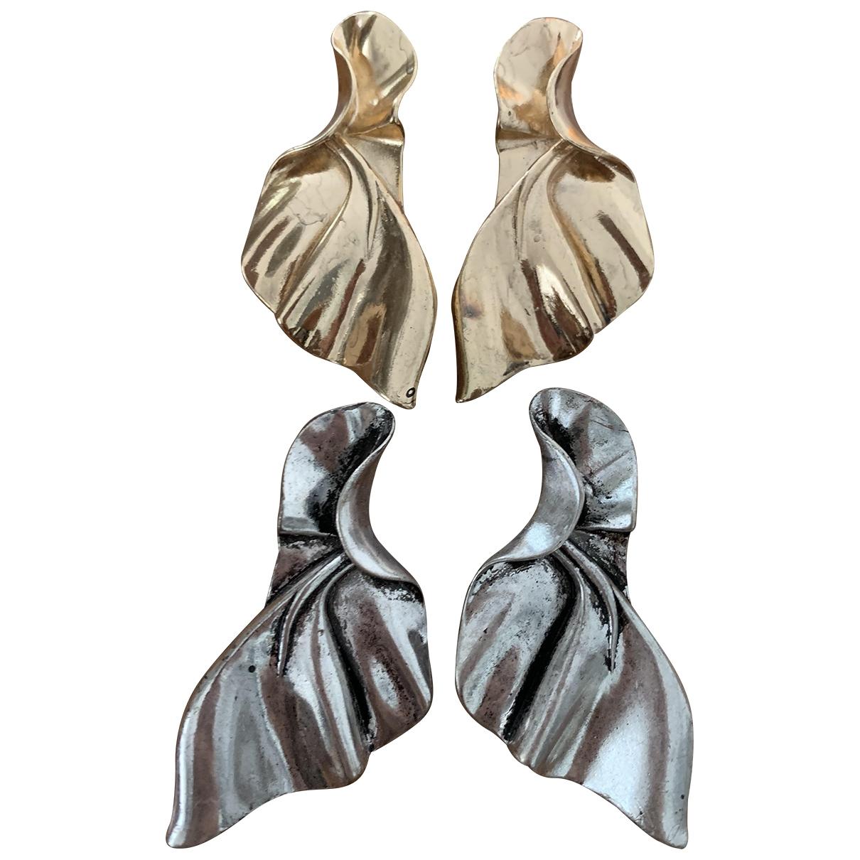 Zara \N Metallic Metal Earrings for Women \N
