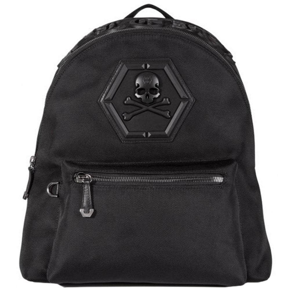 """Philipp Plein """"Don't Ever Give Up"""" Backpack Colour: BLACK, Size: ONE SIZE"""