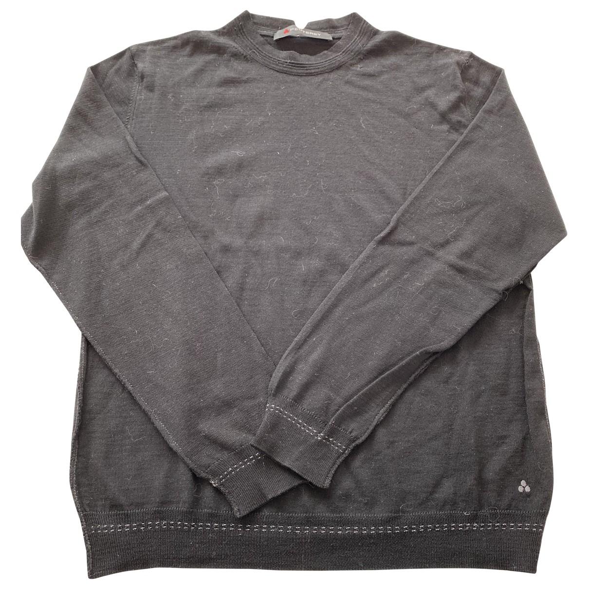 Peuterey \N Pullover.Westen.Sweatshirts  in  Schwarz Wolle
