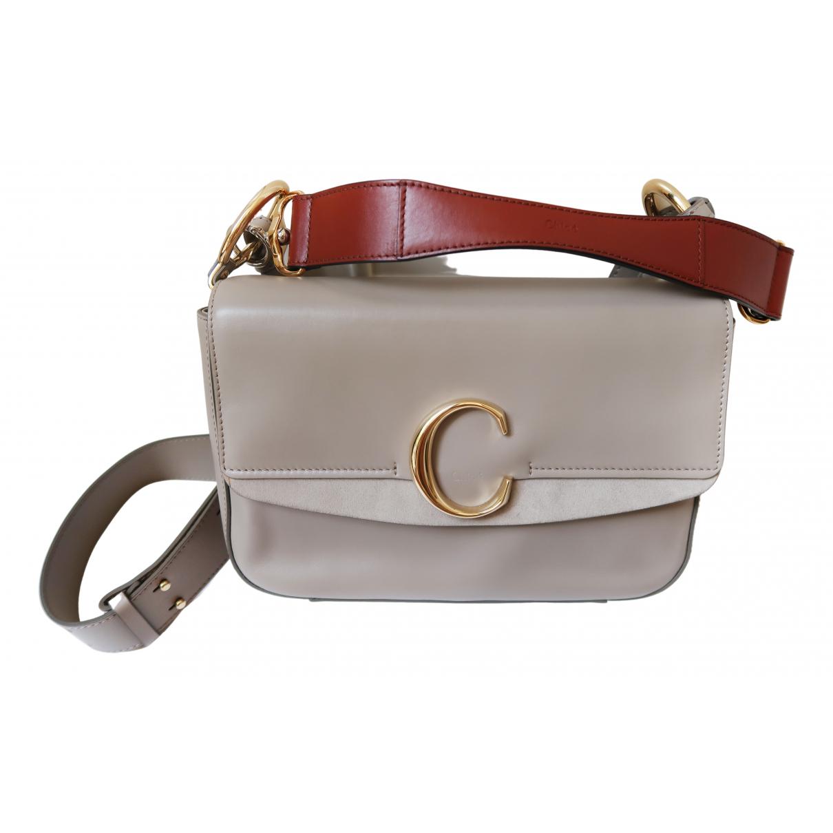 Chloé C Grey Leather handbag for Women N