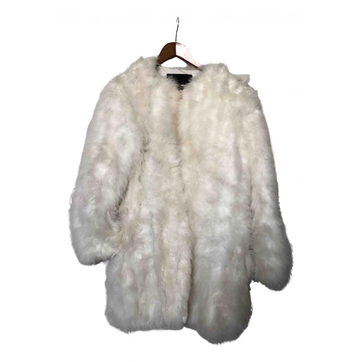 American Retro N White Fur jacket for Women 36 FR