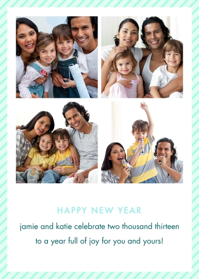 New Year's Flat Glossy Photo Paper Cards with Envelopes, 5x7, Card & Stationery -Photo Booth New Year