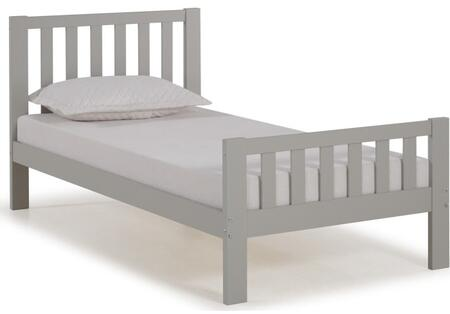 Aurora Collection AJAU1080 Twin Wood Bed  Dove