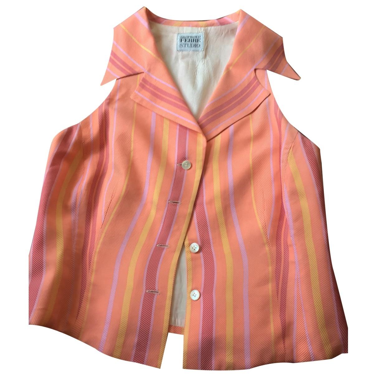 Gianfranco Ferre - Top   pour femme en coton - orange