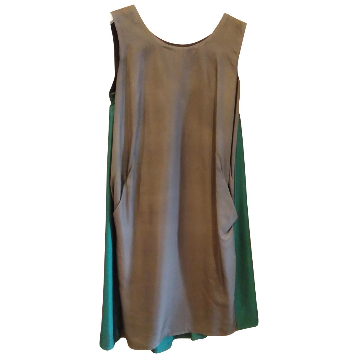 Maurizio Pecoraro \N Metallic Silk dress for Women 40 IT