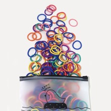100pcs Baby Colorful Hair Tie