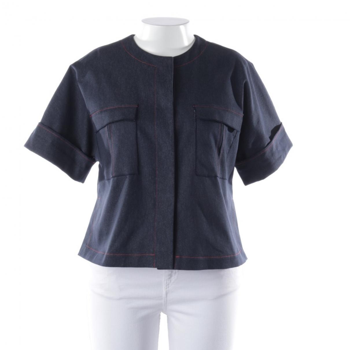 Talbot Runhof \N Blue Cotton jacket for Women 42 FR