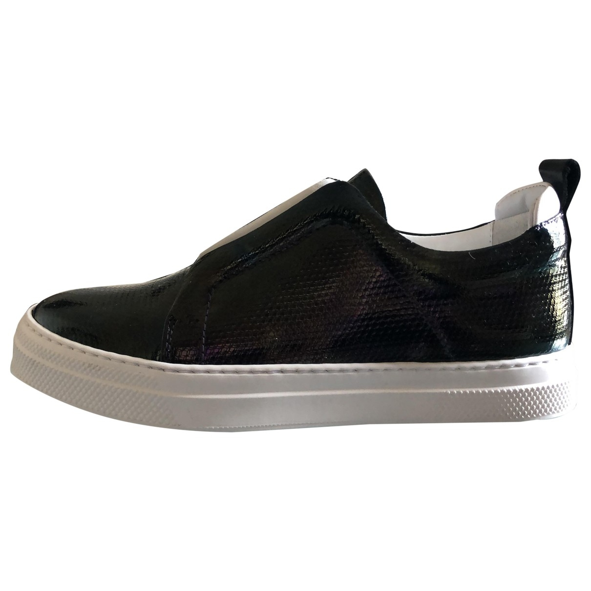 Pierre Hardy \N Black Leather Trainers for Women 35 EU