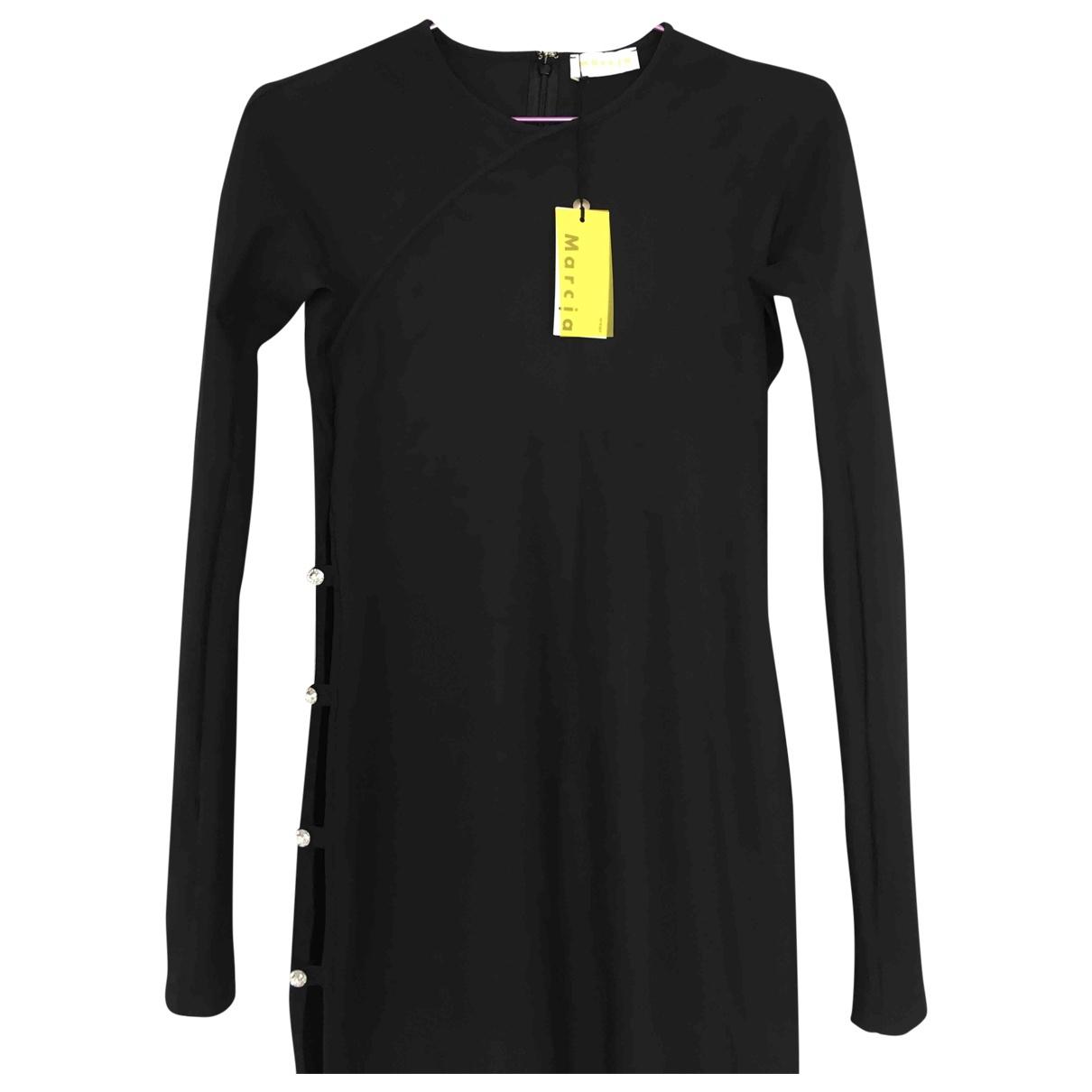Marcia \N Kleid in  Schwarz Synthetik