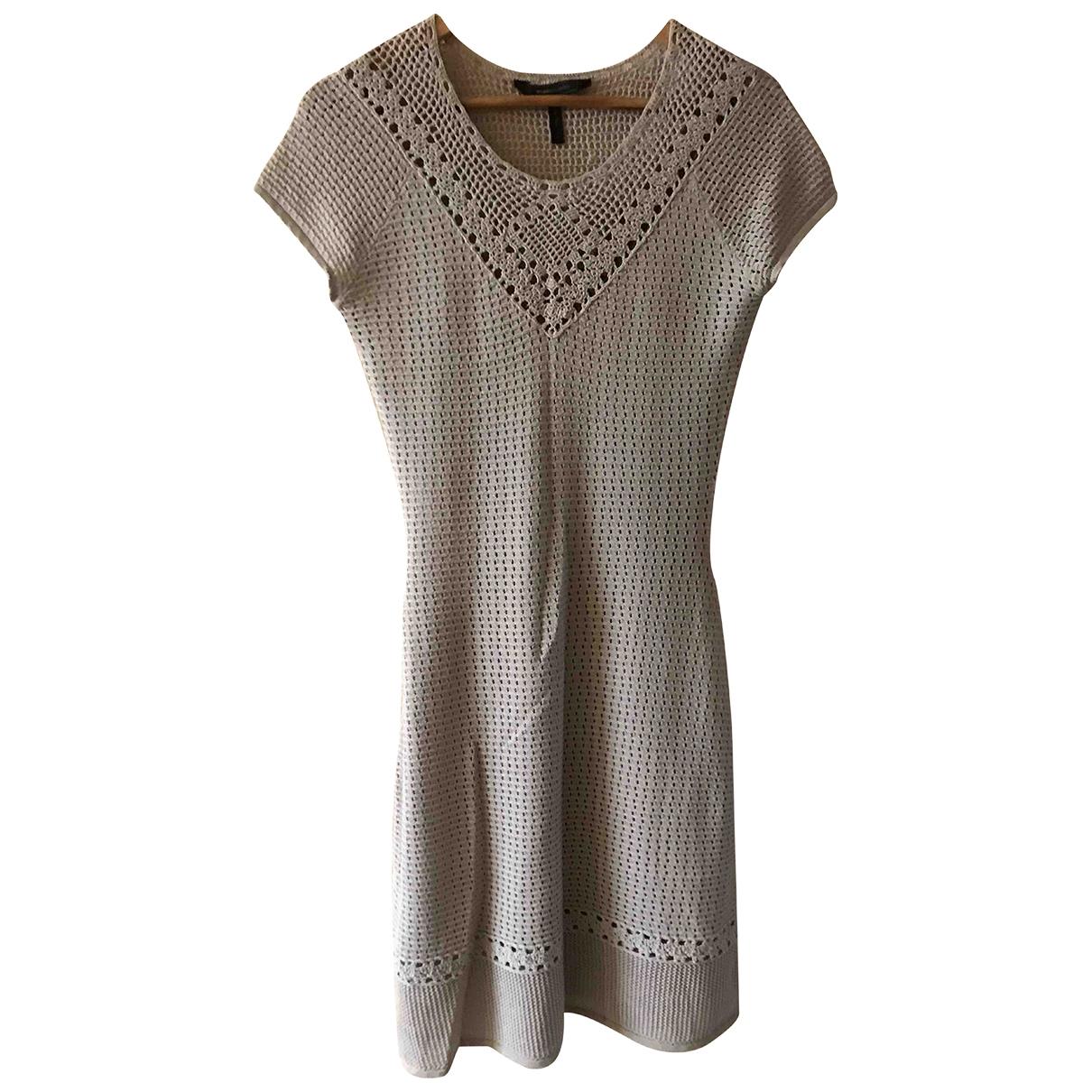 Bcbg Max Azria \N Kleid in  Beige Baumwolle