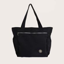 Zip Front Tote Bag