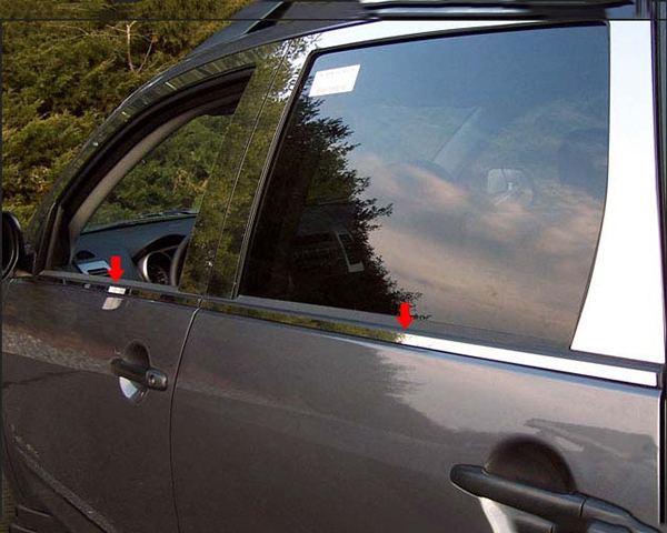 Quality Automotive Accessories 4-Piece Window Sill Trim Mitsubishi Outlander 2008