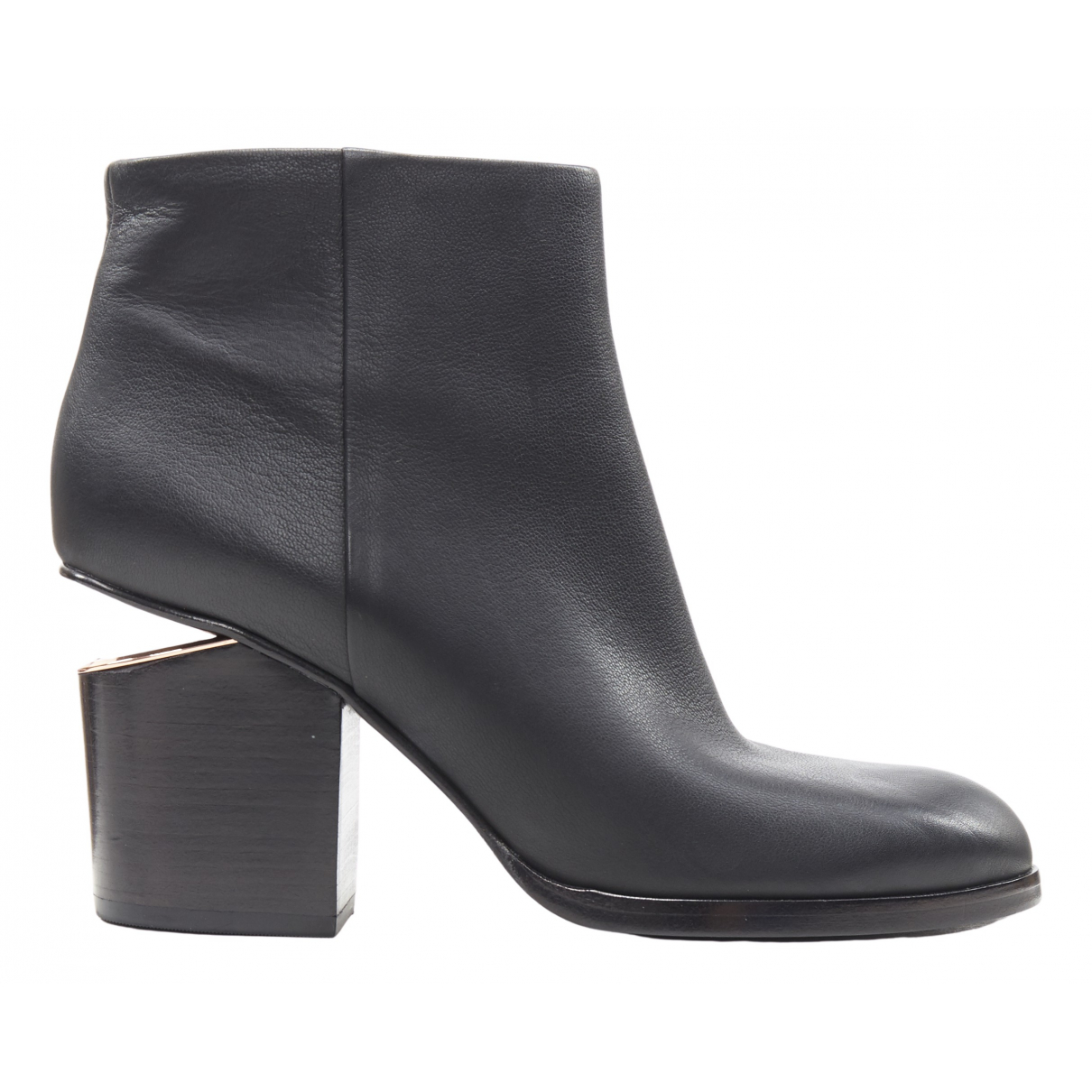 Alexander Wang \N Black Leather Ankle boots for Women 38 EU