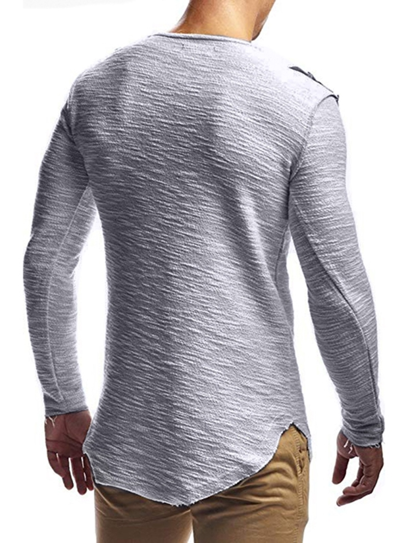 Ericdress Casual Round Neck Slim Long Sleeve T-shirt
