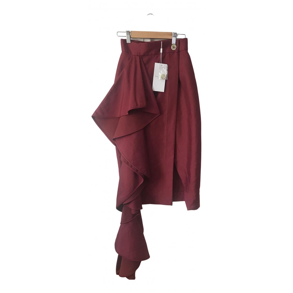 Solace London \N Burgundy skirt for Women 4 UK