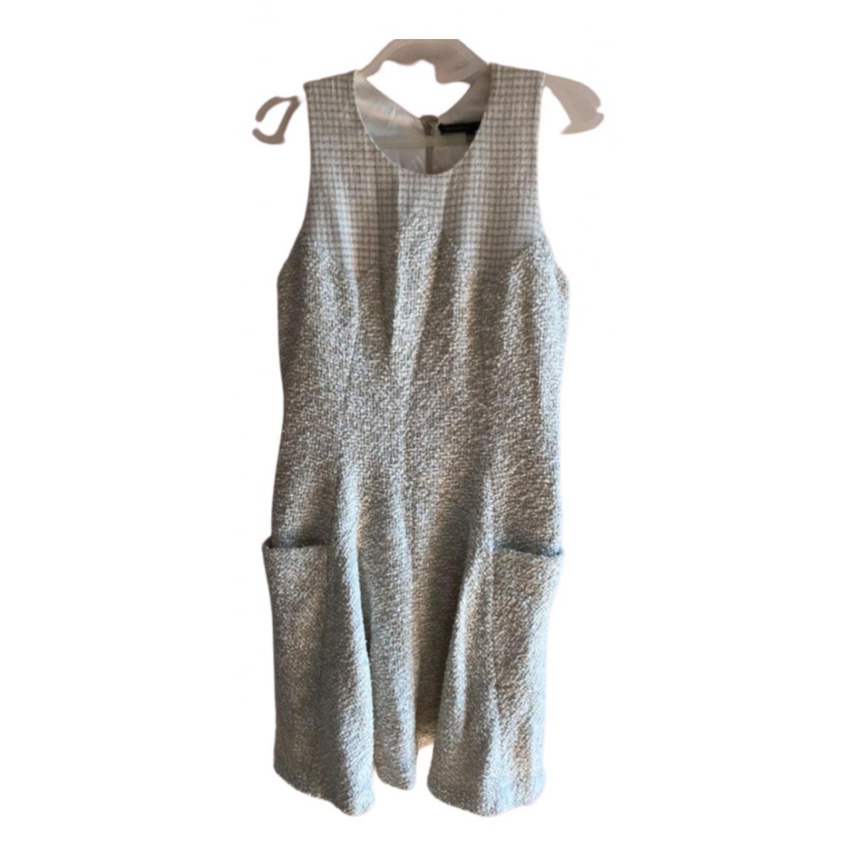 Theyskens Theory - Robe   pour femme en tweed - blanc