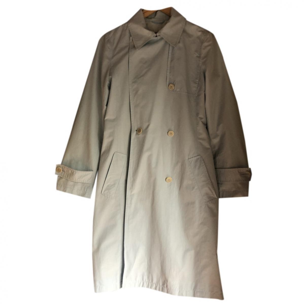 Max Mara Weekend - Manteau   pour femme en coton - bleu