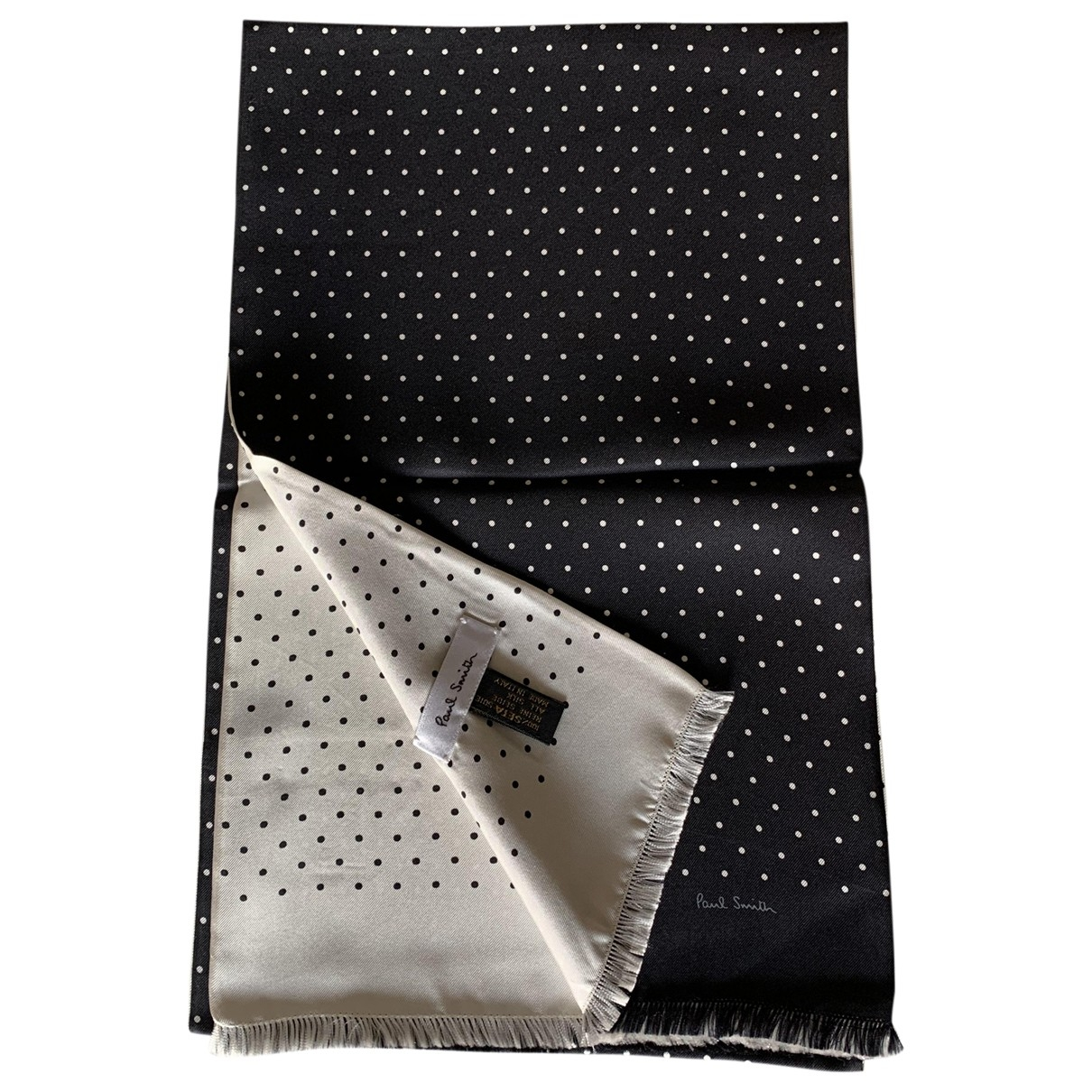 Paul Smith \N Black Silk scarf for Women \N