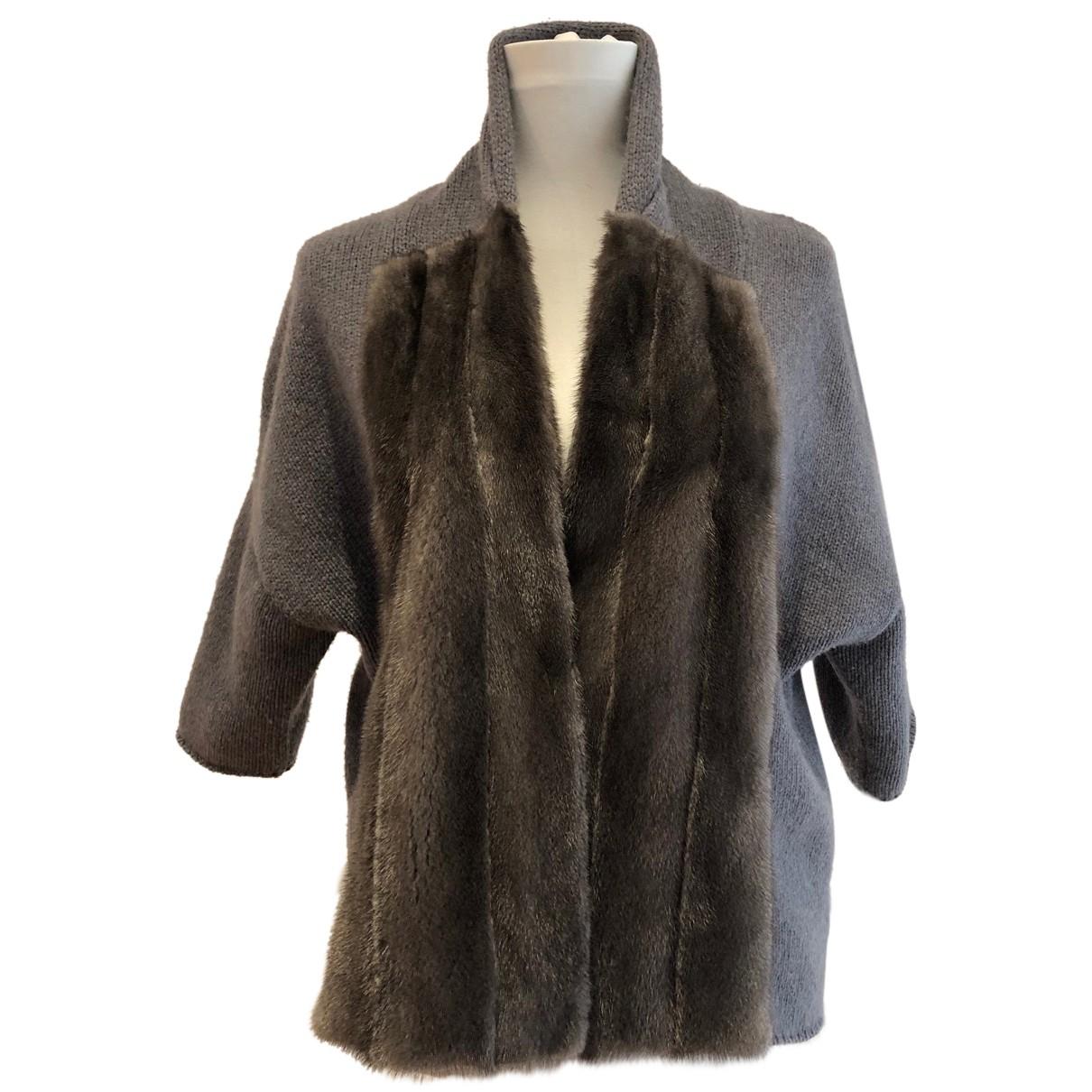 Brunello Cucinelli - Pull   pour femme en vison - gris
