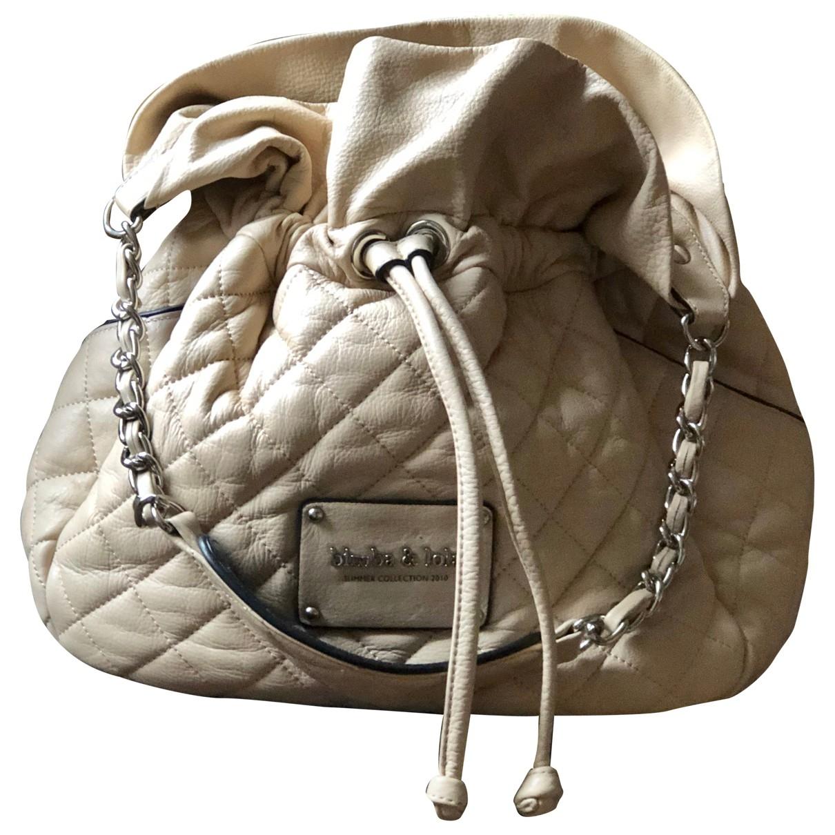 Bimba Y Lola \N Handtasche in  Ecru Leder