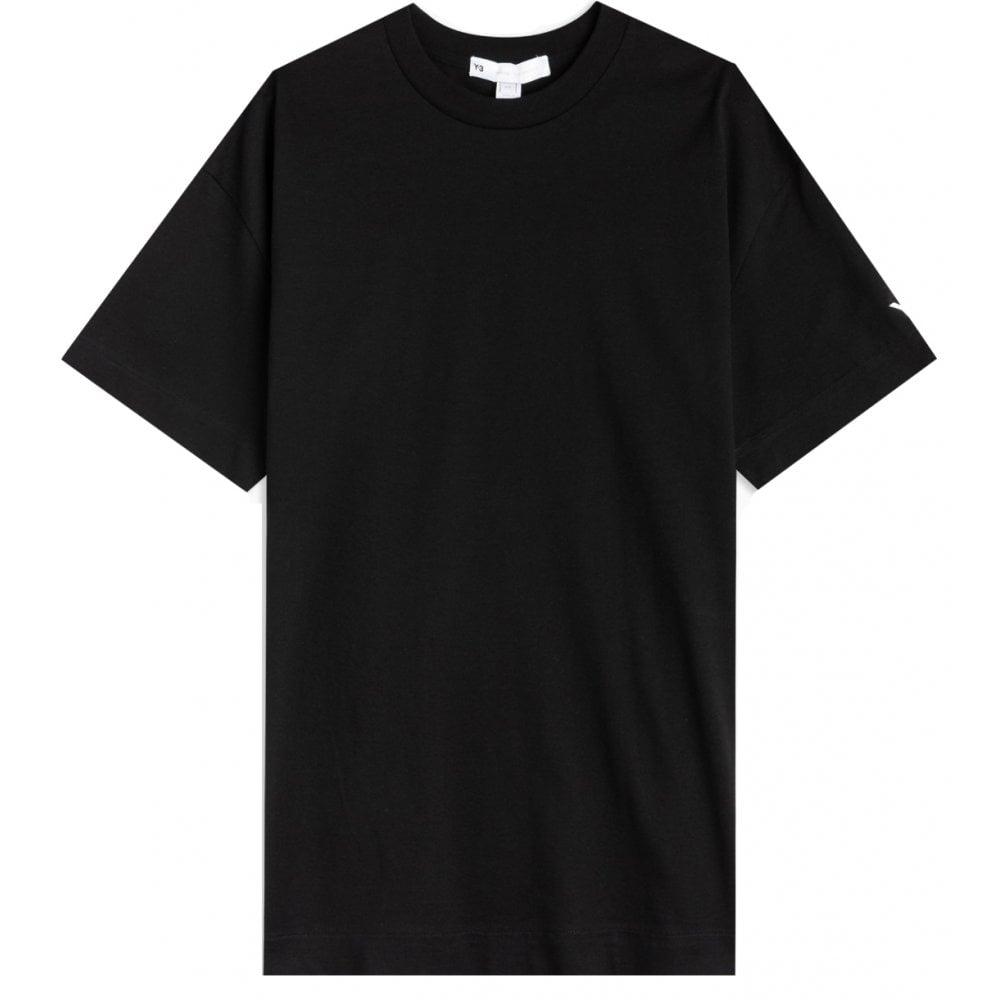 Y-3 Logo T-shirt Colour: BLACK, Size: EXTRA EXTRA LARGE