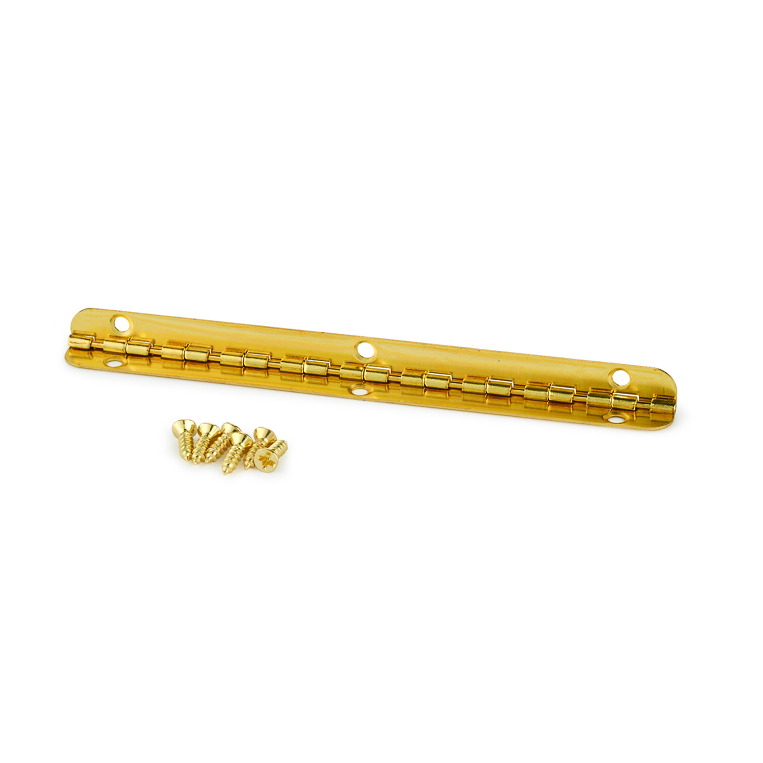 Small Piano Stop Hinge Brass Plated 96mm x 7mm
