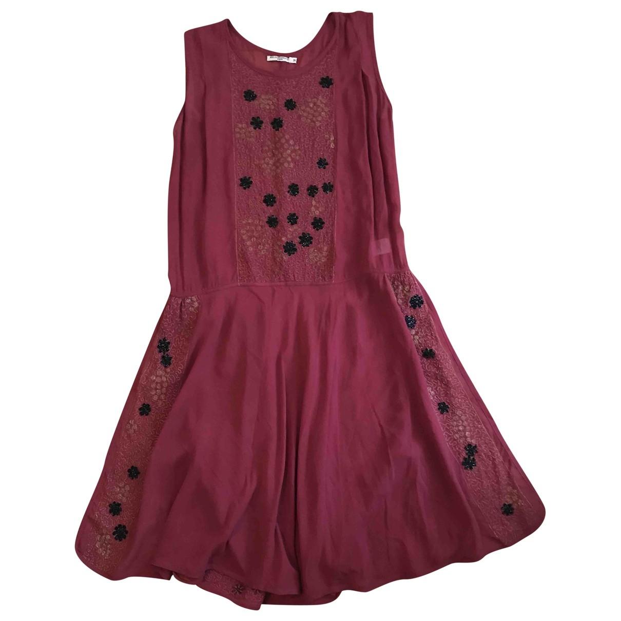 Mes Demoiselles ... \N Burgundy Silk dress for Women 36 FR