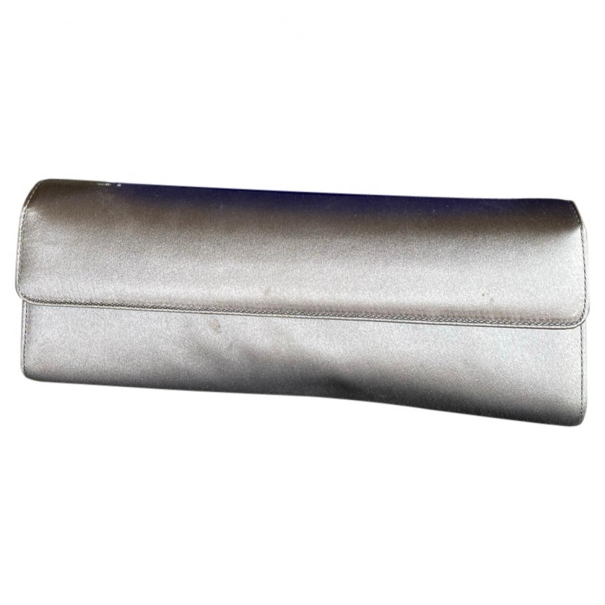 Stuart Weitzman \N Grey Silk Clutch bag for Women \N
