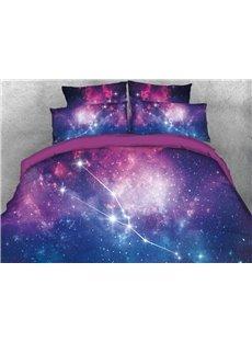Galaxy Taurus Printed 4-Piece 3D Bedding Sets/Duvet Covers