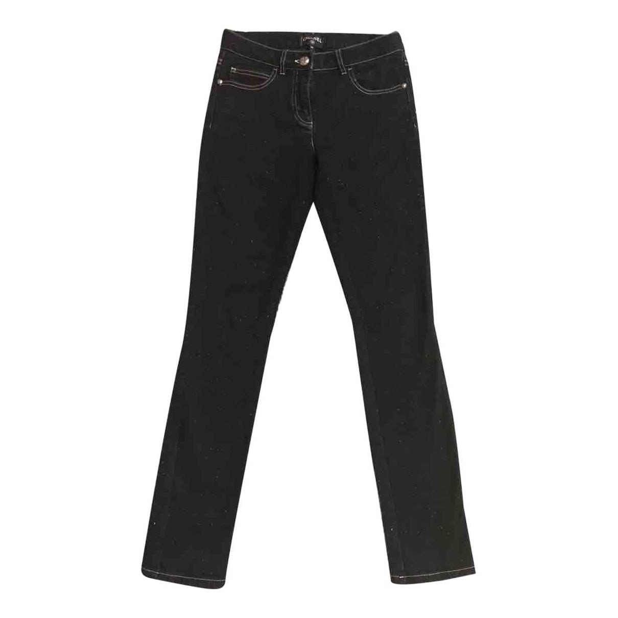 Chanel N Black Denim - Jeans Jeans for Women 34 FR