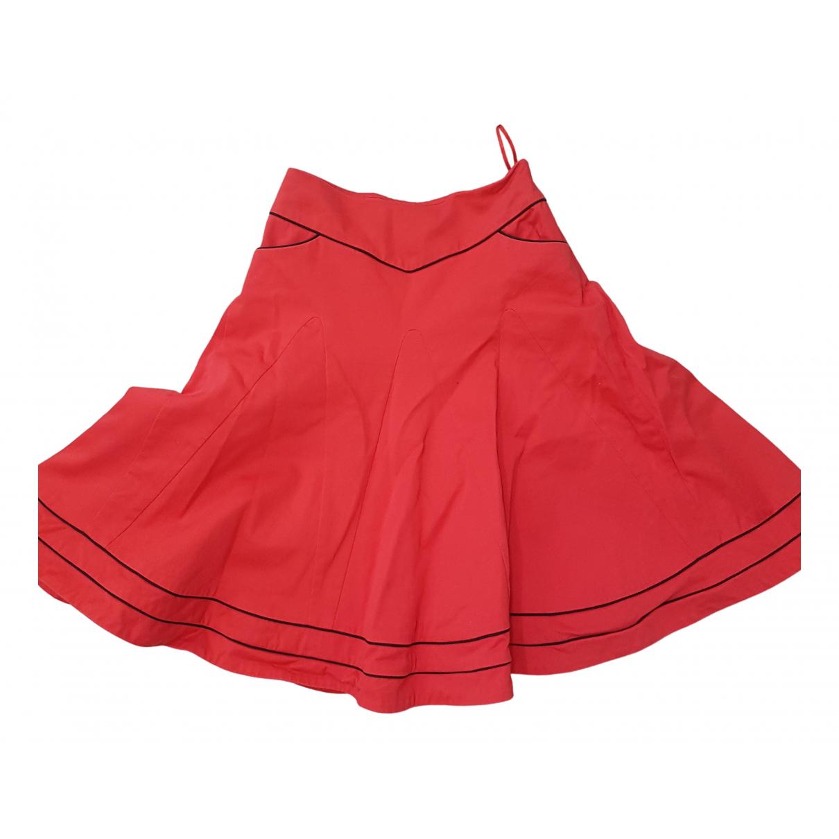 Alexander Mcqueen - Jupe   pour femme en coton - elasthane - rouge