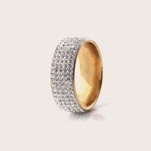 1pc Guys Rhinestone Engraved Ring
