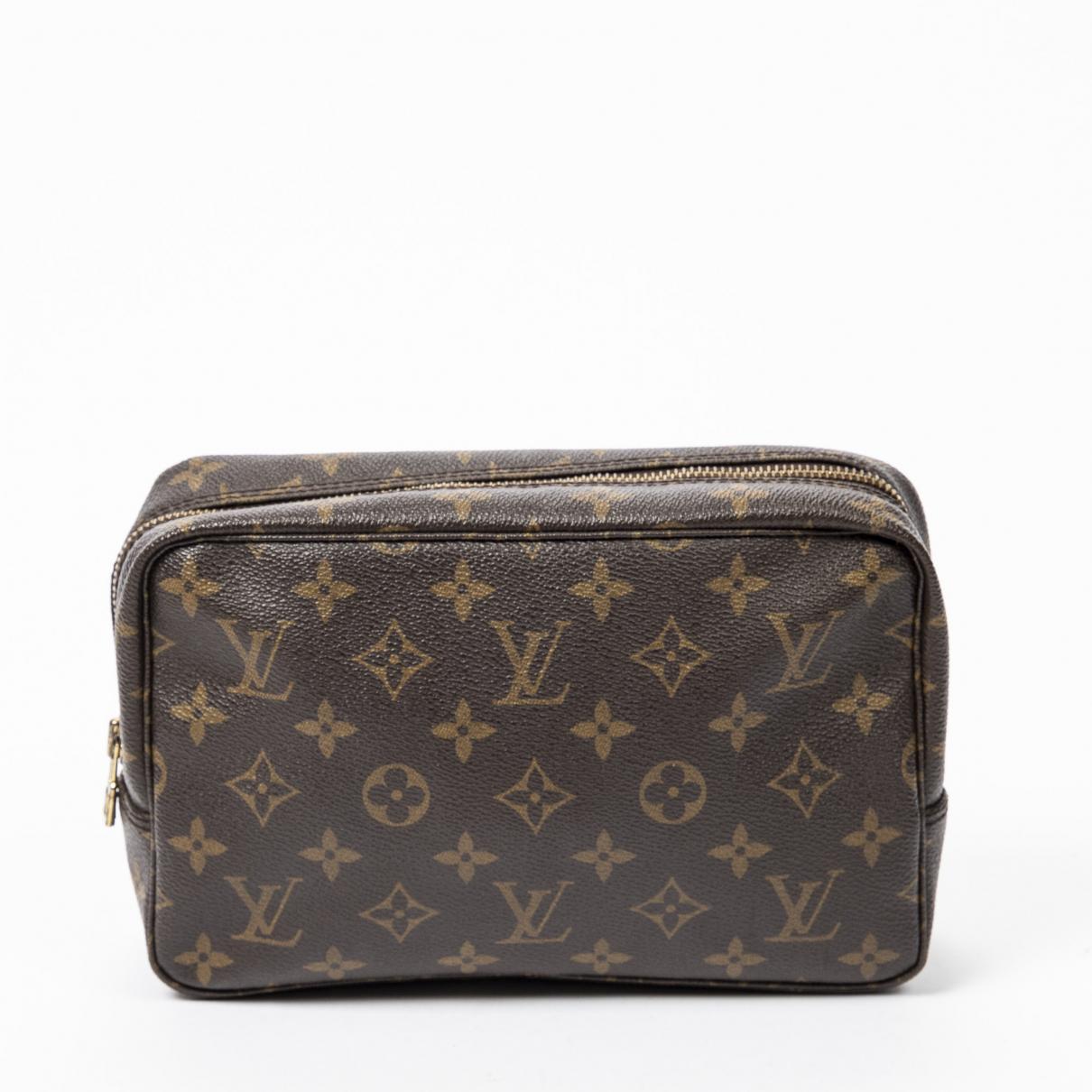 Louis Vuitton \N Brown Cotton Clutch bag for Women \N